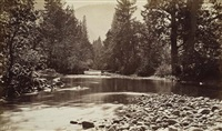 photographs of the yosemite valley and big trees [summer and winter views] (bk w/61 works, 4to) by george fiske